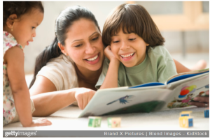 mom_kids reading_getty